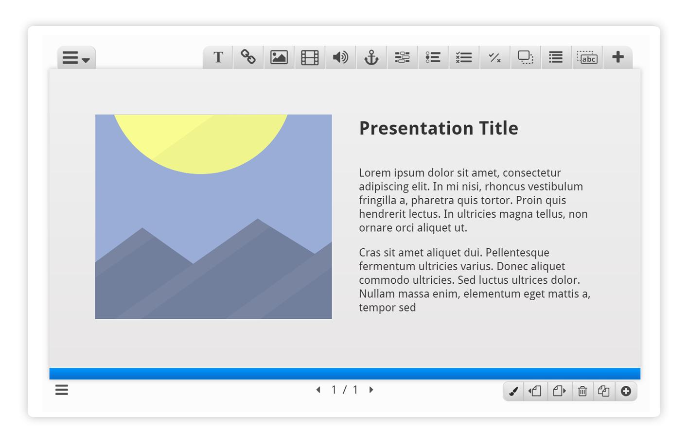 Course Presentation Editor