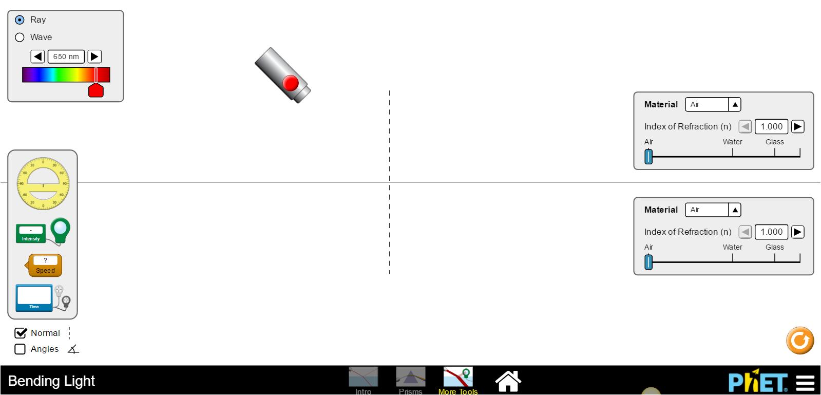 phet simulations bending light   Adiklight.co