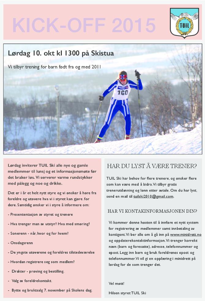 TUIL Ski kickoff 2015