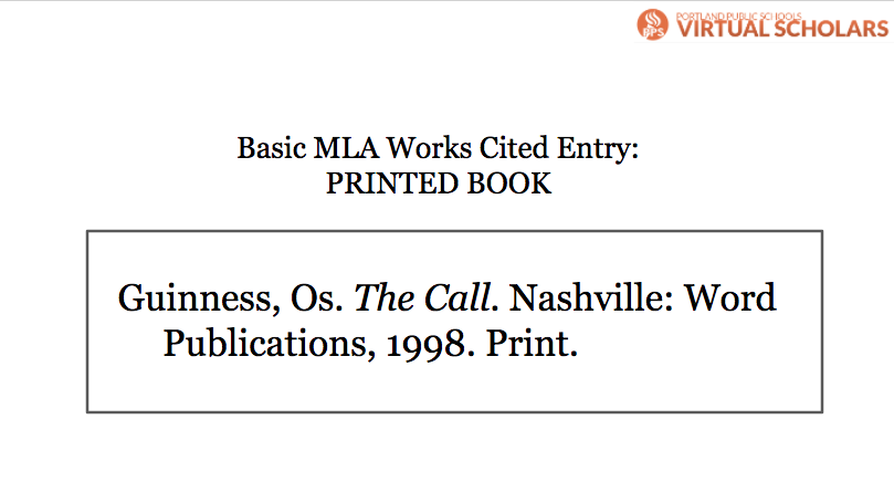 work cited for book