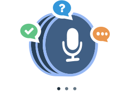 An image showing microphone and questions